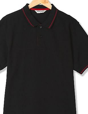 Flying Machine Regular Fit Pique Polo Shirt