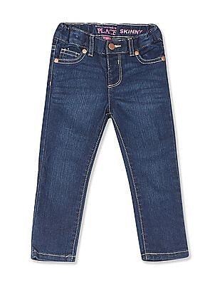 The Children's Place Blue Toddler Girl Skinny Fit Whiskered Jeans