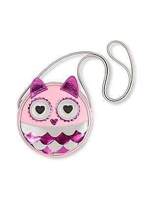 The Children's Place Girls Pink Owl Bag