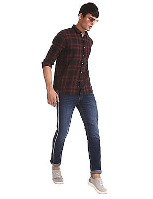 Flying Machine Blue Michael Slim Tapered Fit Dark Wash Jeans