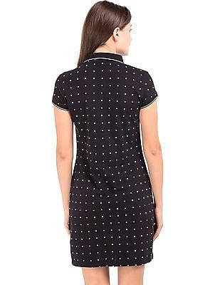 U.S. Polo Assn. Women Printed Pique Polo Dress