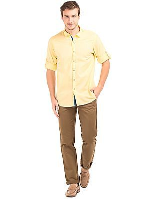 Cherokee Club Collar Cotton Linen Shirt