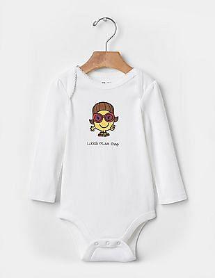 GAP Baby White Little Miss™ Graphic Bodysuit