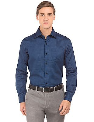 Arrow Slim Fit Printed Sateen Shirt
