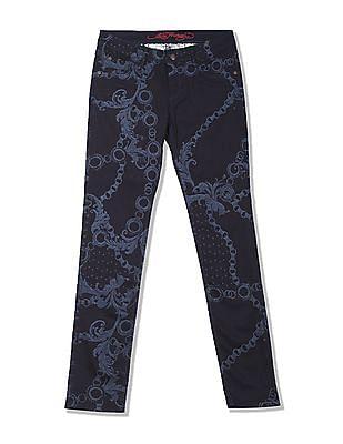 EdHardy Women Skinny Fit Printed Jeans
