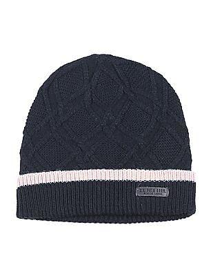 U.S. Polo Assn. Patterned Knit Woollen Beanie