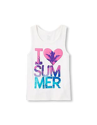 The Children's Place Girls Matchables Sleeveless Summer Graphic Tank Top