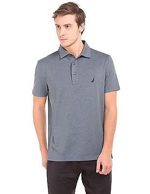 Nautica Short Sleeve Heathered Polo Shirt