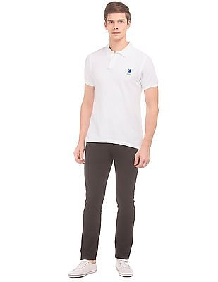U.S. Polo Assn. Textured Collar Slim Fit Polo Shirt