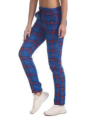 SUGR Blue Insert Pocket Check Lounge Pants