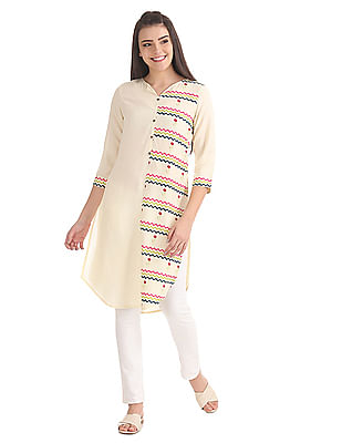 Karigari High Low Hem Printed Kurta