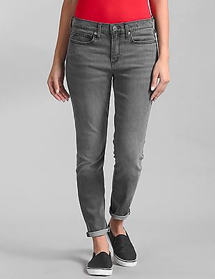GAP Women Grey Five-Pocket Rinsed Jeans