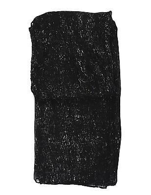 SUGR Black Printed Stole