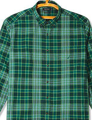 Nautica Cotton Long Sleeve Woven Shirt