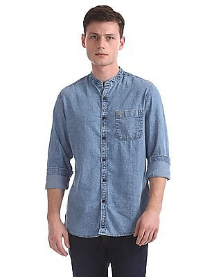 U.S. Polo Assn. Denim Co. Slim Fit Chambray Shirt