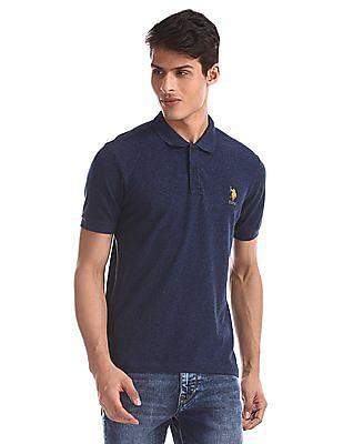 U.S. Polo Assn. Blue Vented Hem Grindle Polo Shirt