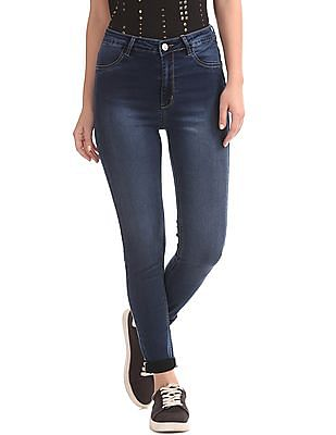 Flying Machine Women High Rise Washed Jeans