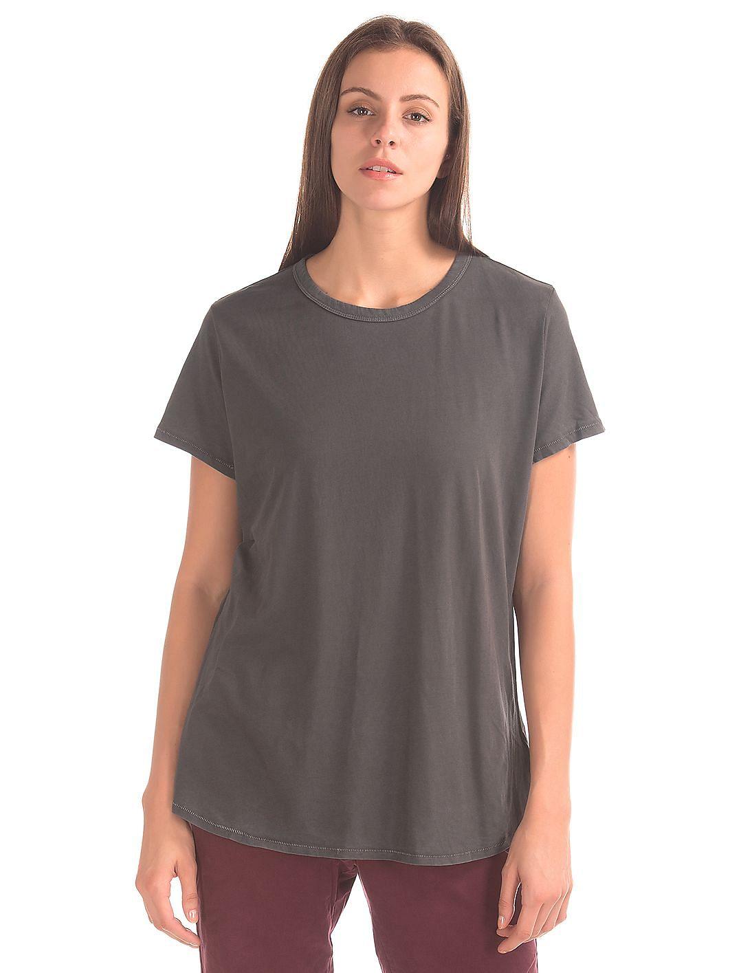 d506e58e Buy Women Vintage Wash Crew Neck tee online at NNNOW.com