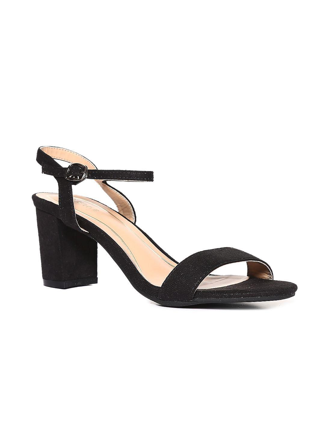 Buy WomenBlack Block Heel Ankle Strap