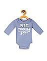 The Children's Place Baby Boys Long Sleeve 'Big Trouble In A Little Body' Graphic Bodysuit
