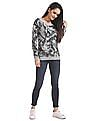 Aeropostale Regular Fit Camo Print Sweater