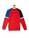 FM Boys Red Boys Panelled Graphic Sweatshirt