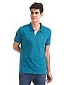 Ruggers Blue Regular Fit Printed Polo Shirt