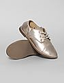 GAP Girls Pink Metallic Oxfords