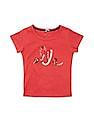 Elle Kids Girls Embellished Front Cotton T-Shirt