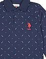 U.S. Polo Assn. Kids Boys Long Sleeve Printed Polo Shirt