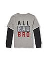 The Children's Place Boys Long Sleeve Statement Graphic Faux-Layered Top