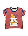 Donuts Boys Polar Bear Applique Cotton T-Shirt