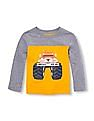 The Children's Place Toddler Boy Grey Long Sleeve Automobile Pieced Top