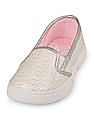 The Children's Place Girls Silver Sparkle Slip On Shoes