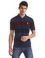 U.S. Polo Assn. Blue Striped Grindle Polo Shirt