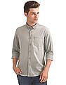 Flying Machine Button Down Collar Washed Shirt