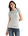 Aeropostale Heathered Jersey Polo Shirt