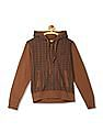 Izod Hooded Checked Sweatshirt