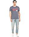 Aeropostale Brand Applique Grindled T-Shirt