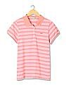 Flying Machine Women Standard Fit Striped Polo Shirt