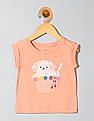 GAP Toddler Girl Pink Embroidery Graphic T-Shirt