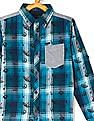 Cherokee Blue Boys Spread Collar Check Shirt