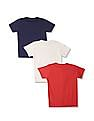 Cherokee Boys Short Sleeve Contrast Print T-Shirt - Pack Of 3