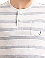Bayisland Striped Henley T-Shirt