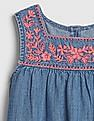 GAP Toddler Girl Embroidered Denim Dress