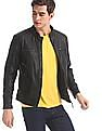 U.S. Polo Assn. Denim Co. Black Panelled Biker Jacket