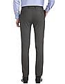Arrow Newyork Brown Super Slim Fit Patterned Trousers