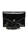 Aeropostale Patent Finish Quilted Sling Bag