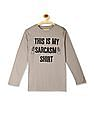 The Children's Place Boys Beige Long Sleeve 'This Is My Sarcasm Shirt' Graphic Tee