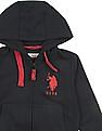U.S. Polo Assn. Kids Boys Hooded Zip Up Sweatshirt